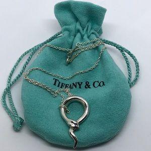 Tiffany & Co. Elsa Peretti Snake Pendant & Chain